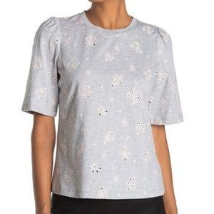 Rebecca Taylor Dree Floral Embroidered Top NWT